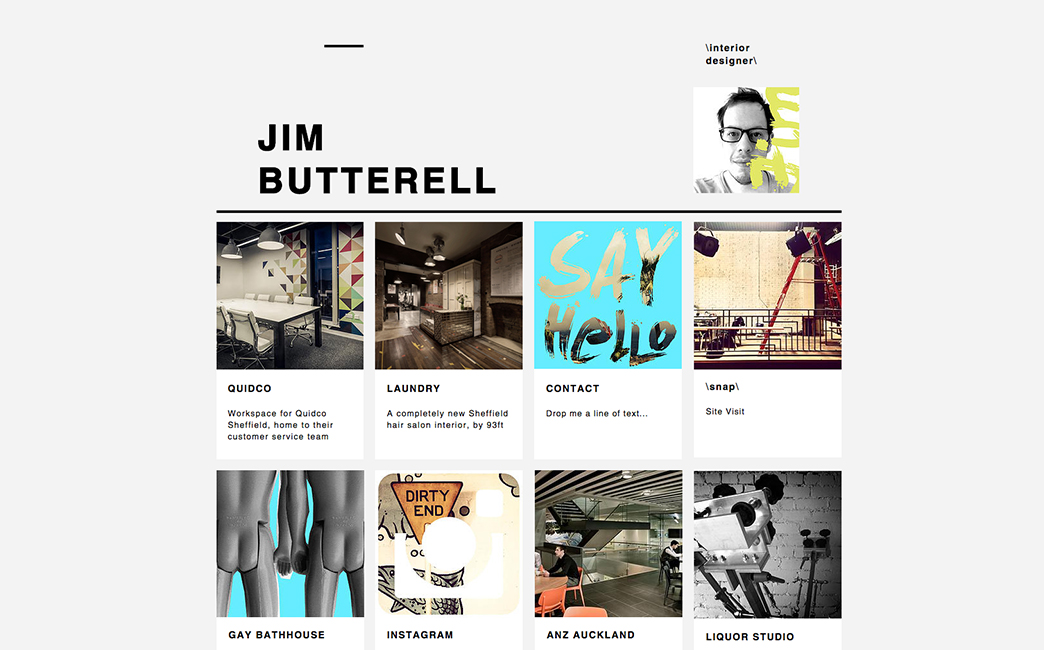 Jim Butterell's website - Wix Stories