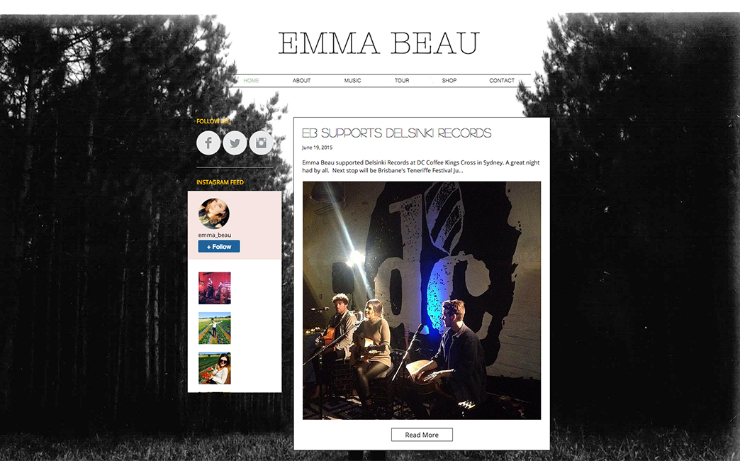 Emma Barlow's website - Wix Stories