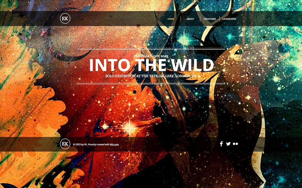 The Original Template used to create Macha Suzuki's website - Wix Stories
