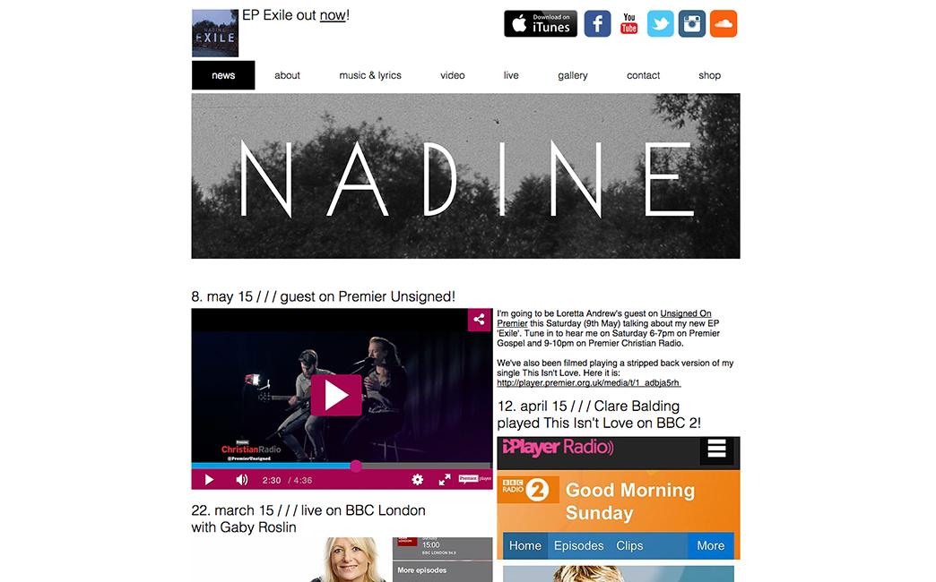 Nadine Furer's website - Wix Stories