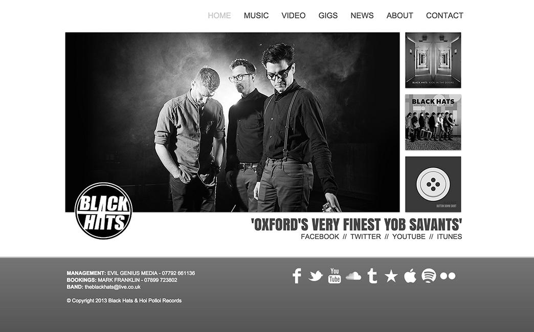 Black Hats's website - Wix Stories