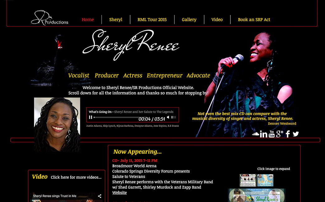 Sheryl Renee's website - Wix Stories