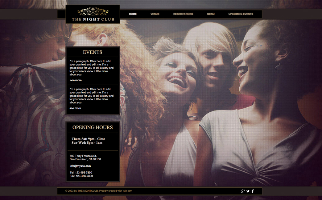 The Original Template used to create Sheryl Renee's website - Wix Stories