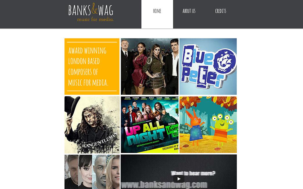 Banks & Wag's website - Wix Stories