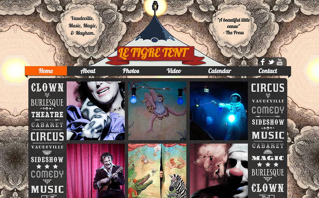 Le Tigre Tent's website - Wix Stories