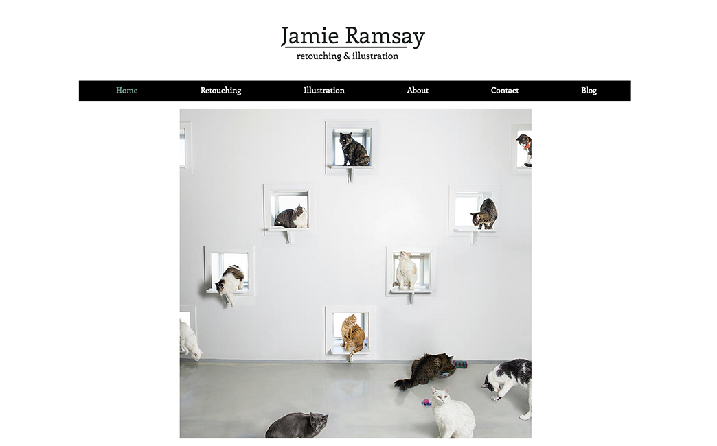 Jamie Ramsay's website - Wix Stories