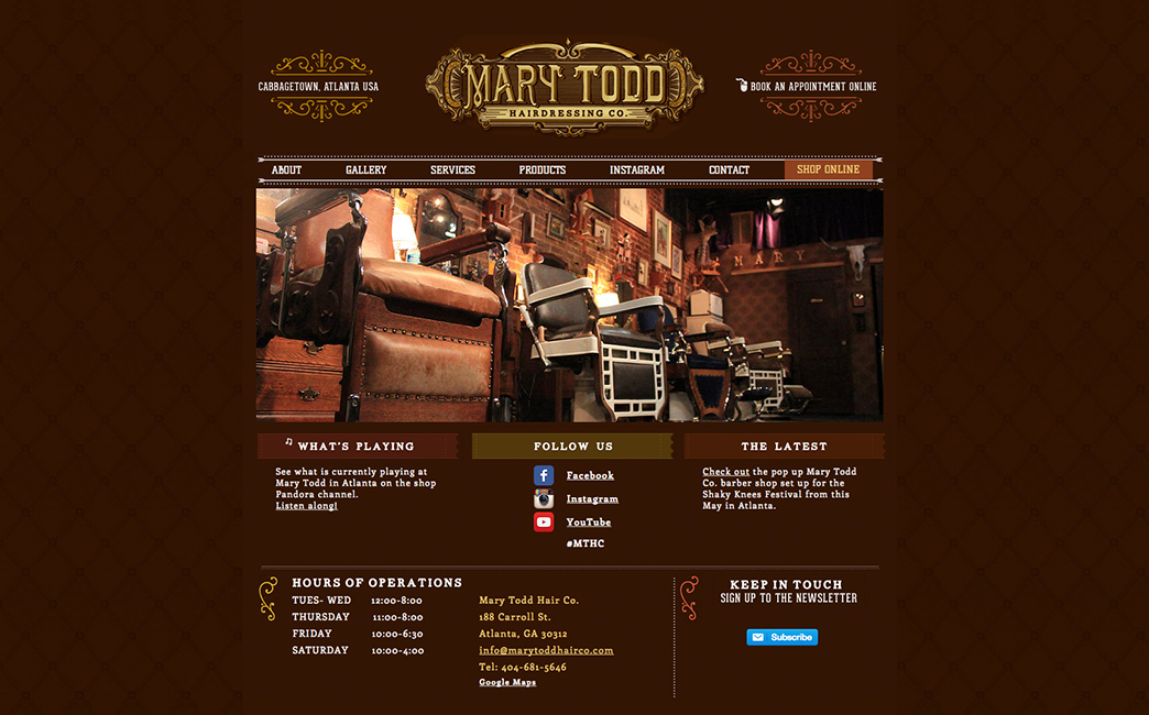 Mary Todd Hair Co.'s website - Wix Stories
