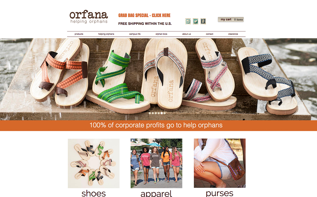 Orfana's website - Wix Stories