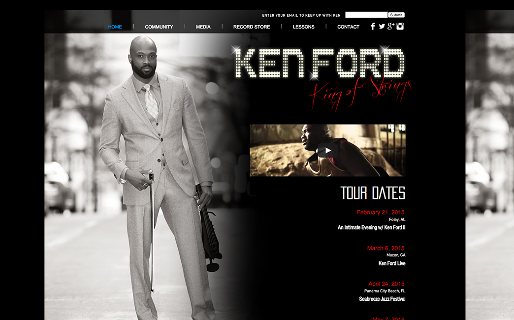 Ken Ford's website - Wix Stories