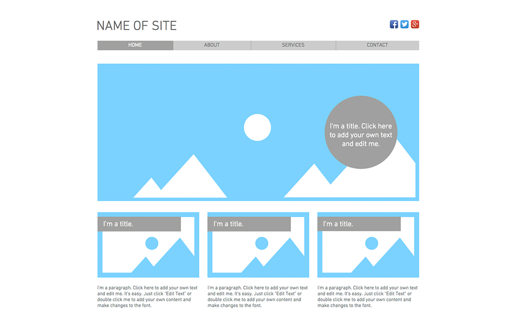 The Original Template used to create Nick Longo's website - Wix Stories