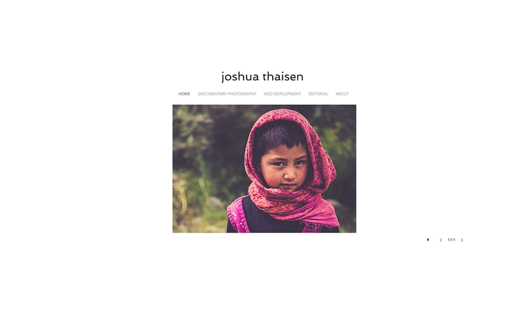 Joshua Thaisen's website - Wix Stories
