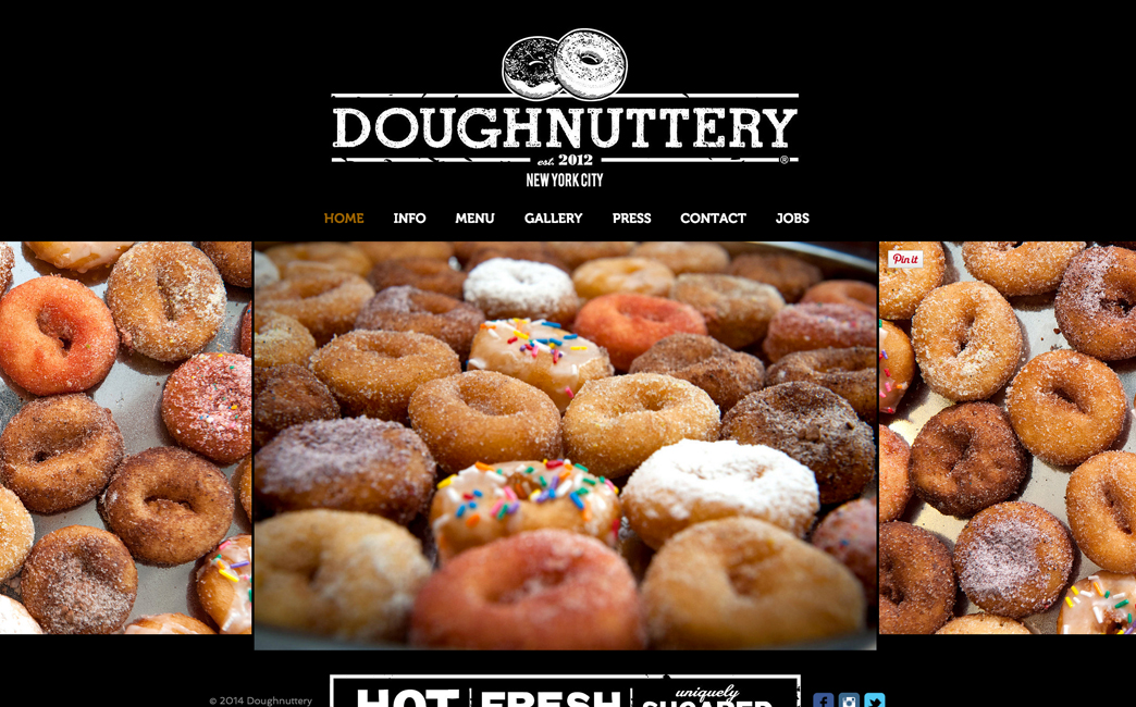 Doughnuttery's website - Wix Stories