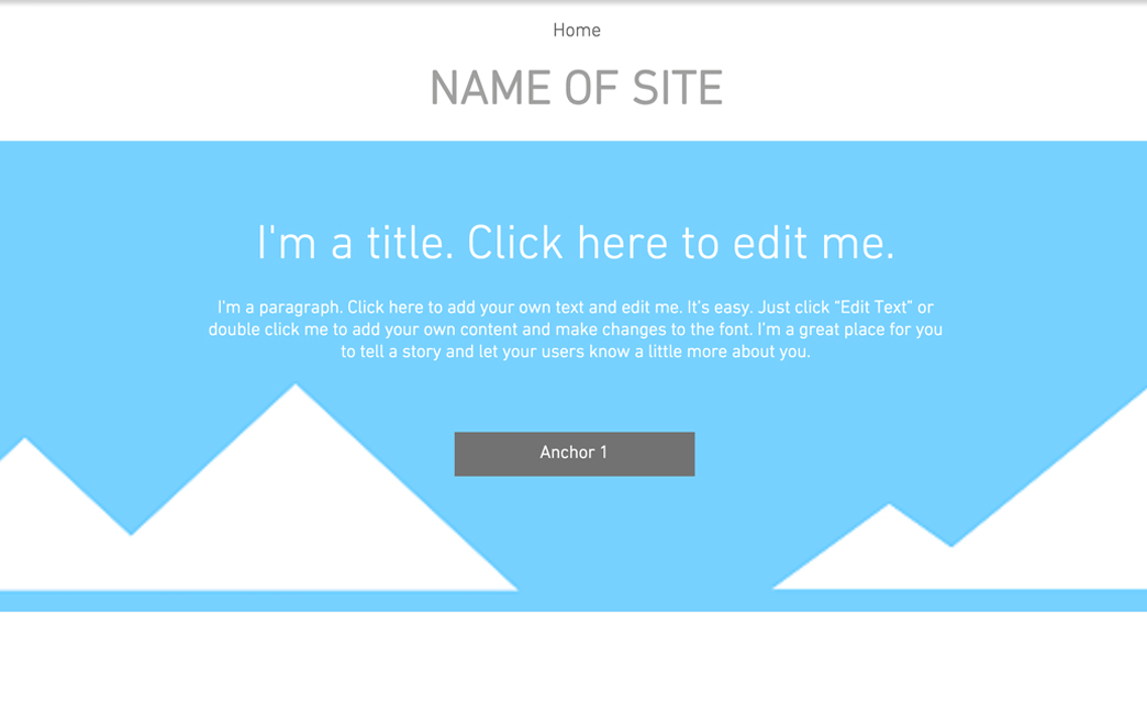 The Original Template used to create Emma Barlow's website - Wix Stories