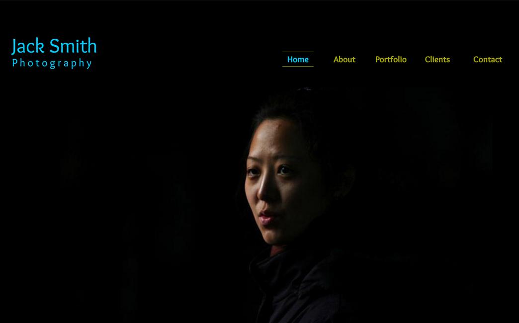 The Original Template used to create Derek Pfohl's website - Wix Stories