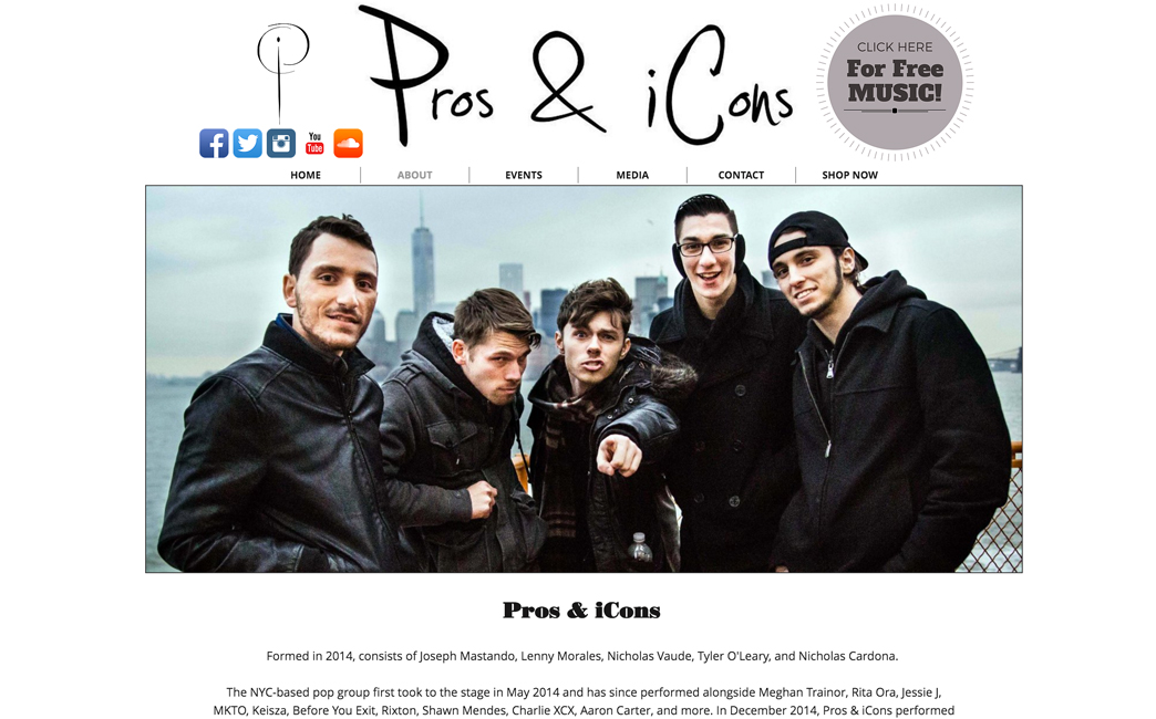 Pros & iCons's website - Wix Stories