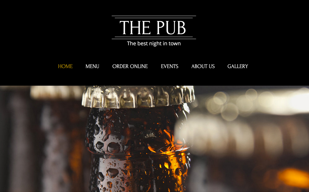 The Original Template used to create Raven's Head Public House's website - Wix Stories