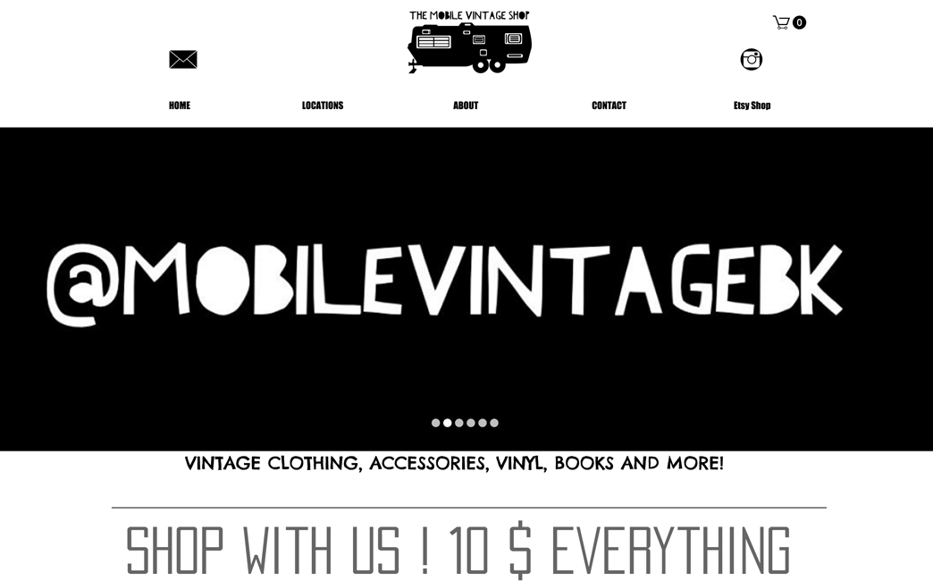 The Mobile Vintage Shop's website - Wix Stories