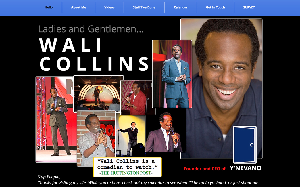 Wali Collins's website - Wix Stories